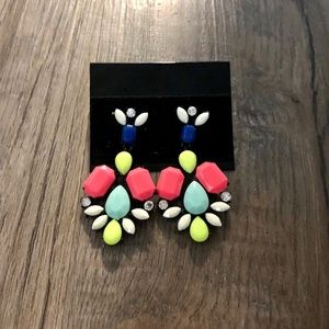 NWOT Neon Statement Earrings